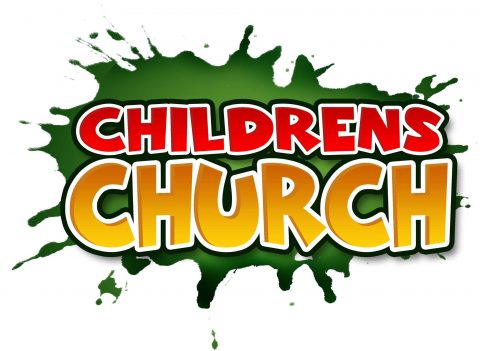 "Graphic saying ""Children's Church"""
