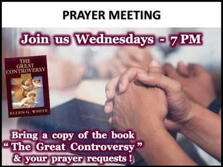 Graphic advertising Prayer meeting