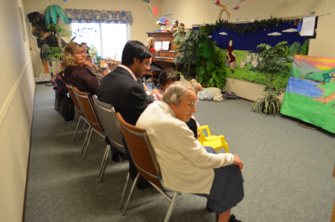 photo of adult supervisors in the 0-2 Sabbath School room